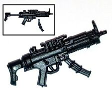 """Basic"" SWAT Machine Gun w/ Stock -1:18 Scale Weapon for 3-3/4"" Action Figures"