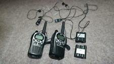 2ea Midland - Gxt Pro Two-Way Radios + 2ea Avph3 Transparent ptt Headsets &batts