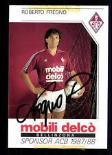 Robert Fredgno Autogrammkarte AC Bellinzona 1987-88 Original Signiert+A 94426