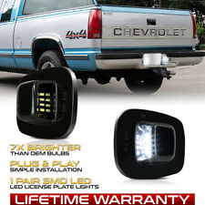 88 00 Chevy Ck 1500 2500 3500 Bright White Led License Plate Lights Tag Lamps