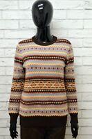 Cardigan Donna STEFANEL Taglia L Maglione Pullover Sweater Woman Vintage Lana