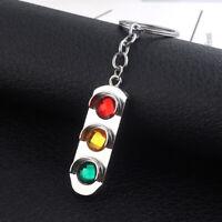 Fashion Mini 3D Traffic Light Car Key Ring Chain Keyfob Keychain Keyring Gift