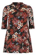 Samya by Caroline Morgan Dress Tunic PLUS SIZE 18 XXL Floral Cream Red Black