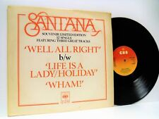"Santana while all right 12"" Ex+/Vg S Cbs 12-6755 vinyl, single, fusion, pop rock"
