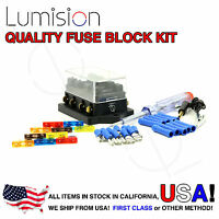 4 Port Way Fuse Block Lumision Kit Ready to Install Automotive Car Boat Marine