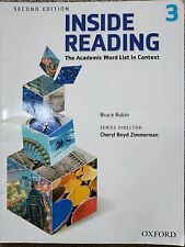 Inside Reading  level 3, The  academic  word  list in context , by  Bruce rubin