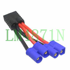 Traxxas TRX female to Y 2x EC3 male Harness parallel Cable wire For LIPO battery