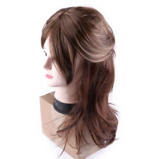 """Daily 17"""" Natural Dark Brown Long Curly Hair Lady Fashion Lace Front Wig New"""