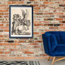 Albrecht Durer - Coat of Arms with a Skull Wall Art Poster Print