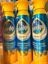 PLEDGE CLEAN IT ANTBACT DISINFEC MULTI SURFACE FRESH CITRUS x3 DEAL!!