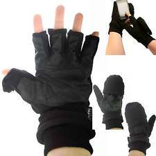 THICK Thermal Fleece Winter Fingerless Mittens Gloves Gift Motorbike Fishing