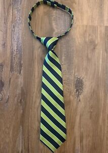 NWT Gymboree Navy Chartreuse Striped Tie Size 6 +