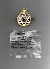 BRITISH ARMY.  ROYAL ARMY CHAPLAINS DEPARTMENT.( JEWISH )  OFFICIAL CAP BADGE