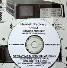 Hewlett Packard Ops & Service Manual w/Schematics for the 8505A Network Analyzer
