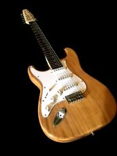 STRAT STYLE LEFT HANDED 12 STRING NATURAL ELECTRIC GUITAR GREAT PLAYER