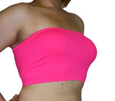 PLUS SIZE BANDEAU TUBE BRA - SEAMLESS! MANY COLORS! FITS 1X-2X-3X FREE SHIPPING