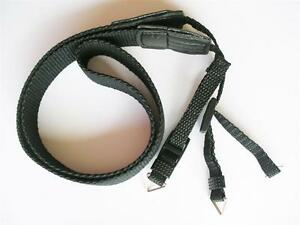 "BLACK WEBBING STRAP FOR CAMERA BINOCULARS SLR COMPACT NYLON 25MM 1"" WIDE"