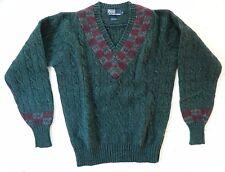 Polo by Ralph Lauren / 100% Wool / V-Neck Knit Sweater / Size: M / Deadstock