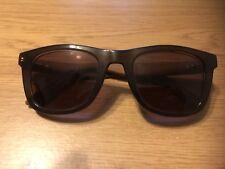 Tommy Hilfiger Wayfarer Wooden look with stripes prescription sunglasses