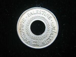 PALESTINE 5 MILS 1927 BRITISH MANDATE ISRAEL SHARP 3936# BANK WORLD MONEY COIN