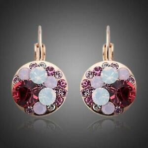Gift For Her ROUND RED BLOOD CLIP EARRINGS KHAISTA