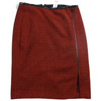 NWT The Limited Black & Red A-Line Knee Length Zipper Front Skirt Women's Sz 10