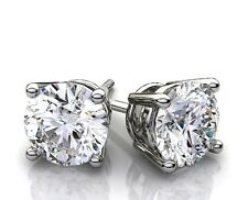 0.40ct  ROUND CUT Man Made Diamond Stud EARRINGS 14K White or Yellow Gold nr