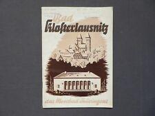 Reiseprospekt Bad Klosterlausnitz das Moorbad Thüringens, DDR 1959