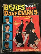 The Beatles Meet Dave Clark 5 Magazine 1964 Copyright