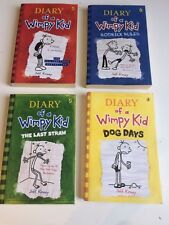 Dairy of a Wimpy Kid books 1,2,3,4  Rodrick Rules Last Straw Dog Days paperback