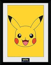 Pokemon Pikachu Poster Mono Framed Printfree Uk Shipping Collector 30 x 41cm