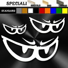 set adesivi sticker EYES NO FEAR set prespaziato,decal scooter,auto,moto,casco