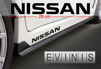 NISSAN 2x Side Stickers Car Decals Graphics DEFAULT BLACK