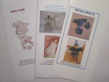 Knitting Patterns for 1:12 scale dollhouse baby doll (fits 2 inch doll) - SET 2