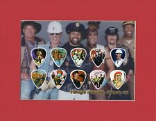 Village People Matted Picture Guitar Pick Set Limited Macho Man Ymca In The Navy