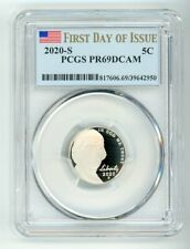 2020 S JEFFERSON NICKEL 5C PCGS PR69DCAM FIRST DAY OF ISSUE 39642950