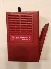 New Oem Motorola Minitor Ii (2) Housing w/ Battery Door - Red