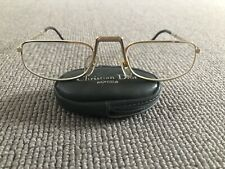 Vintage 80's Christian Dior folding reading optical glasses gold unisex