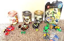 4 Lego Bionicle Tahnok, Pahrak, Nuvok, Lewa Master Jungle and Bonus Bag Figures