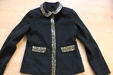 Boden black wool embellished  jacket size 8