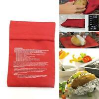 Microwave Baked Potato Bag Kitchen Washable Cooker Bag Baked Tools New