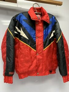 Vintage Yamaha Jacket Sports Wear Mens Size LT Large Tall Snowmobile Jacket Red