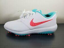 SZ 9.5 Nike Men's Roshe G Tour AR5580-103 Golf Cleats Shoe Hot Punch White