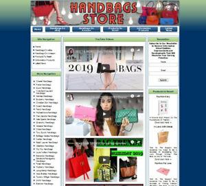 DESIGNER COACH HANDBAG PURSE STORE - Premium Affiliate Website Business For Sale