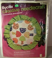 Vintage Bucilla Creative Needlecraft kit - Patchwork Mushrooms #2182