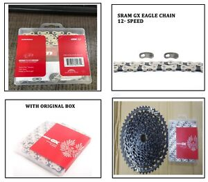 SRAM Gx Eagle Chain 12 Speed Mtb Bicycle Chain 126 L Links With Power Lock