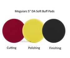 """Meguiars 3 pads 5"""" en Mousse Souple da POLIR de finition coupe disque G220 DAS6"""