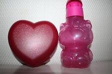 TUPPERWARE ecoeasy BAMBINI BOTTIGLIA Hello Kitty 425ml + fantastiche cuore BARATTOLO rarità