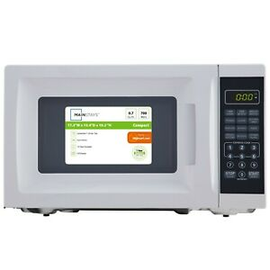 Mainstays 0.7 Cu. Ft. 700W White Microwave Oven- BRAND NEW- College Dorm