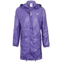 Adidas Women's Purple ClimaProof Full Zip Long Jacket All Sizes Female